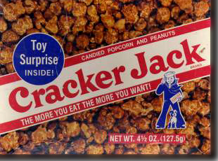 fair market value cracker jack Vintage cracker jack prizes are small free gifts given away with the popular american snack food cracker jack history & description cracker jack is a brand of snack comprising of strong molasses-flavoured popcorn and peanuts coated in candy.